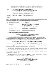 petition to the office of administrative law - Defense for SVP