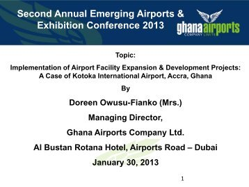 Second Annual Emerging Airports & Exhibition Conference 2013