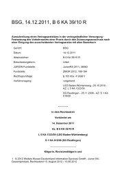 BSG, 14.12.2011, B 6 KA 39/10 R