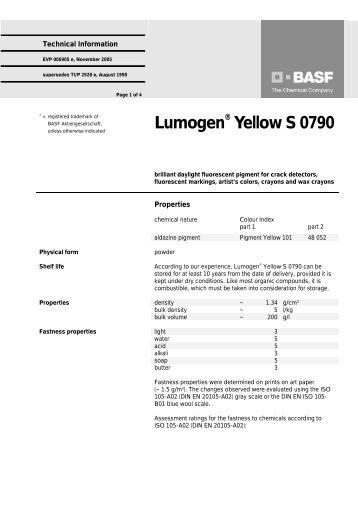 Lumogen Yellow S 0790