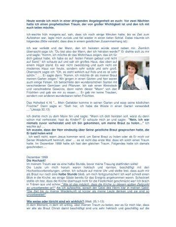 Prophetischer Traum von Suzette Hattingh - Kingdom Impact