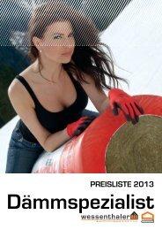 PREISLISTE 2013 - Wessenthaler