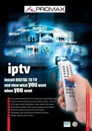Digital To TV for IPTV - Promax