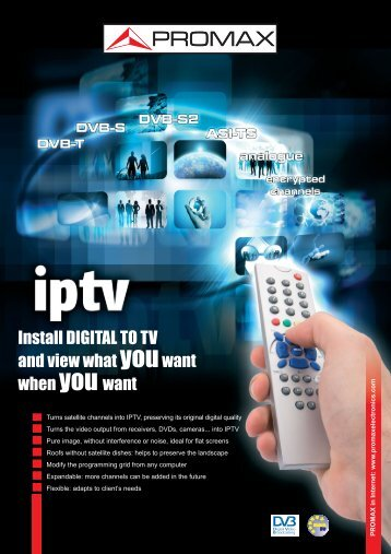 Digital To TV for IPTV - Promax