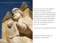 Aristoteles: fast pensum i middelalderen - Bernadette Preben-Hansen