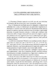 Nicotra M., La collezione archeologica della Pinacoteca Zelantea