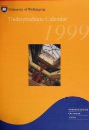 Undergraduate Calendar 1999 - Library - University of Wollongong