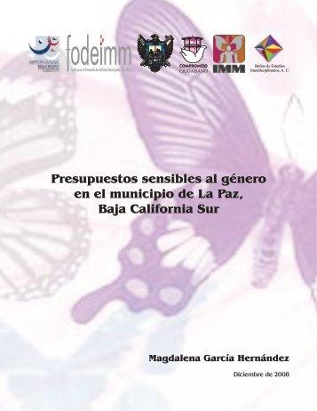 Presupuestos sensibles al género en el municipio de La Paz, Baja ...