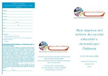 Fare impresa nel settore dei servizi educativi e ricreativi per l'infanzia