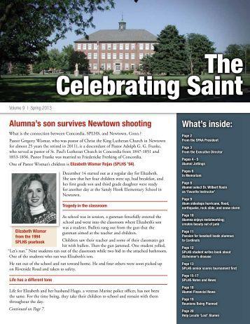 Alumni Newsletter Spring 2013 (PDF) - Saint Paul Lutheran High ...