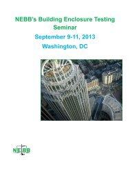NEBB's Building Enclosure Testing Seminar September 9-11, 2013 ...