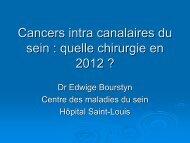 Cancers intra canalaires du sein : quelle chirurgie en 2012 ? - ESKA