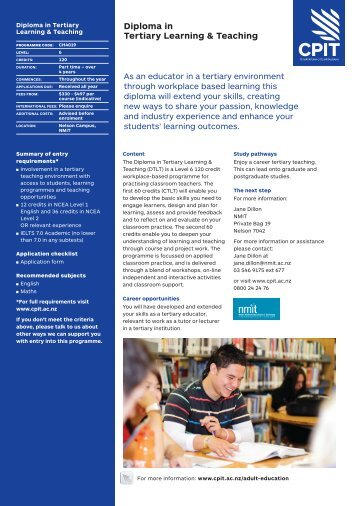 Download the CPIT flyer - NMIT