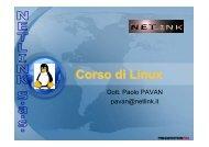 Corso di Linux - Paolo PAVAN