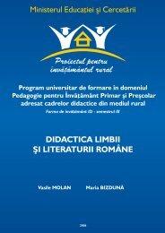 DIDACTICA LIMBII ŞI LITERATURII ROMÂNE