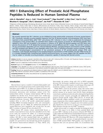 HIV-1 Enhancing Effect of Prostatic Acid Phosphatase ... - AllCells.com