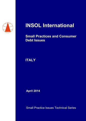 INSOL Small Practice Paper on ITALY - 29 April 2014