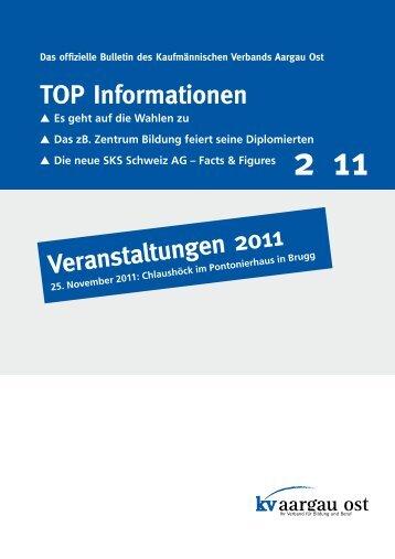 TOP Informationen Veranstaltungen 2011 - KV Schweiz