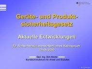 Geräte- und Produktsicherheitsgesetz: Aktuelle Entwicklungen