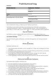 Praktikumsvertrag - Berufsbildenden Schulen 1 Celle