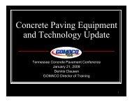 Concrete Paving Equipment dT h l U d and Technology Update