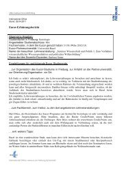 Eucor-Erfahrungsbericht - Albert-Ludwigs-Universität Freiburg