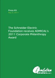 The Schneider Electric Foundation receives ADMICAL's 2011 ...