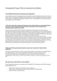 Häufig gestellte Fragen (FAQ) zur Gesamtschule Gottlieben