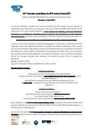 Journée GFP Polymères 2012 - Université de Franche-Comté