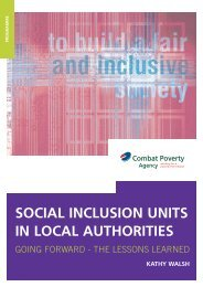 Social Inclusion Units in Local Authorities - Combat Poverty Agency