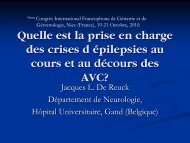 POST-STROKE EPILPSY - Congrès international francophone de la ...