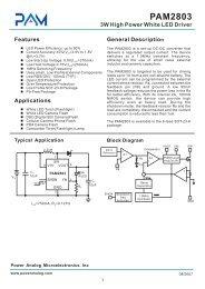 PAM2803 3W High Power White LED Driver - Beriled
