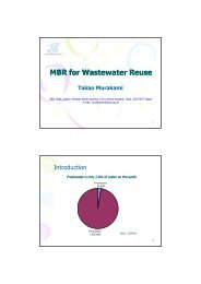 MBR for Wastewater Reuse - WEPA