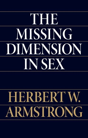 The Missing Dimension in Sex - Church of God - NEO