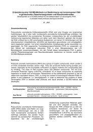 Entwicklung einer GC/MS-Methode zur Bestimmung von ...