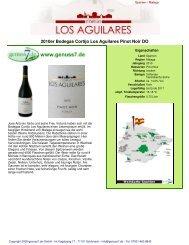 2010er Bodegas Cortijo Los Aguilares Pinot Noir DO - Genuss7.de