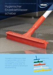 Hygienischer Einzelblatt Wasserschieber Product sheet - Vikan