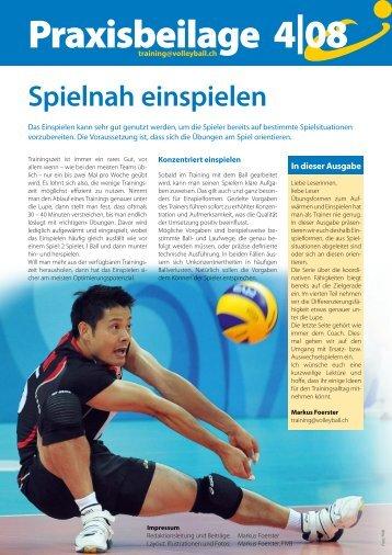 Praxisbeilage zum Swiss Volley Magazine 2008-4