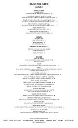 MUSTARD SEED - Dine With Sal Restaurant Group