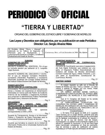 Click para ver Publicación - Periódico Oficial - Gobierno del Estado ...