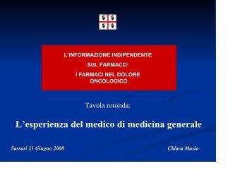 L'esperienza del medico di medicina generale - Sardegna Salute