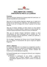 reglament del consell participatiu per a la llengua - Ajuntament de ...