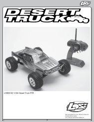 LOSB0102 1/10th Desert Truck RTR - Auta na vysílačku