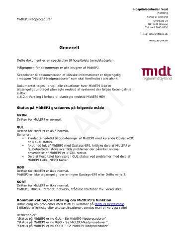 MidtEPJ nødprocedurer - Region Midtjylland