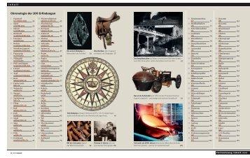 I n h a l t Chronologie der 100 Erfindungen