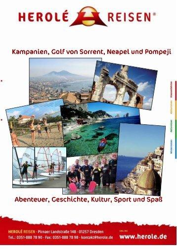 Infoheft Golf von Sorrent und Kampanien - h-schlenke.de