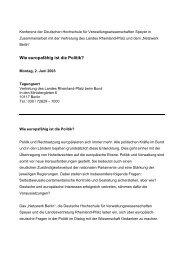 Einladung zu dieser DHV-Tagung (PDF) - Netzwerk Berlin