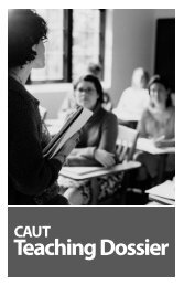 CAUT Teaching Dossier - LUFA