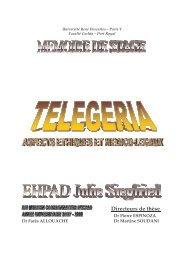 Telegeria : Aspects ethiques et medico-legaux - Memoire ... - EHPAD