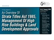 Strata Titles Act 1985, Management Of High ... - CMT Conferences